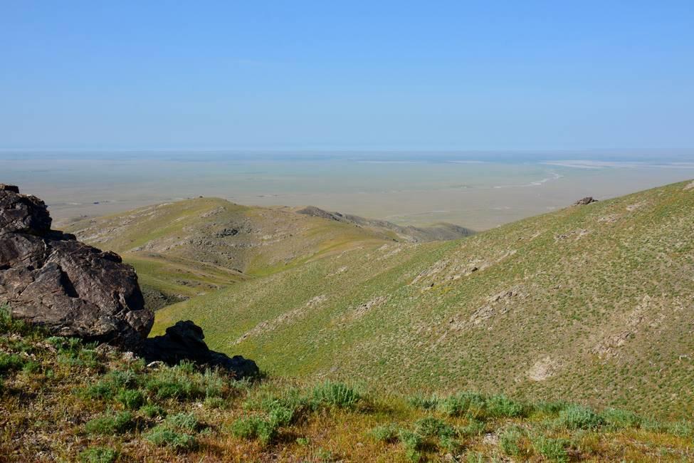 Paysage des montagnes de Nourata en OUzbékistan