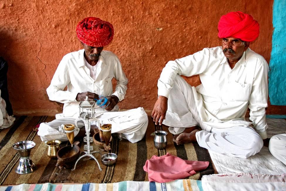 Indiens cuisinant au Rajasthan