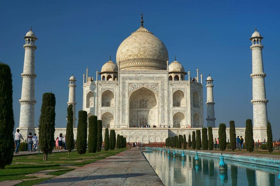 Le Taj Mahal au Rajasthan dans le nord de l'Inde