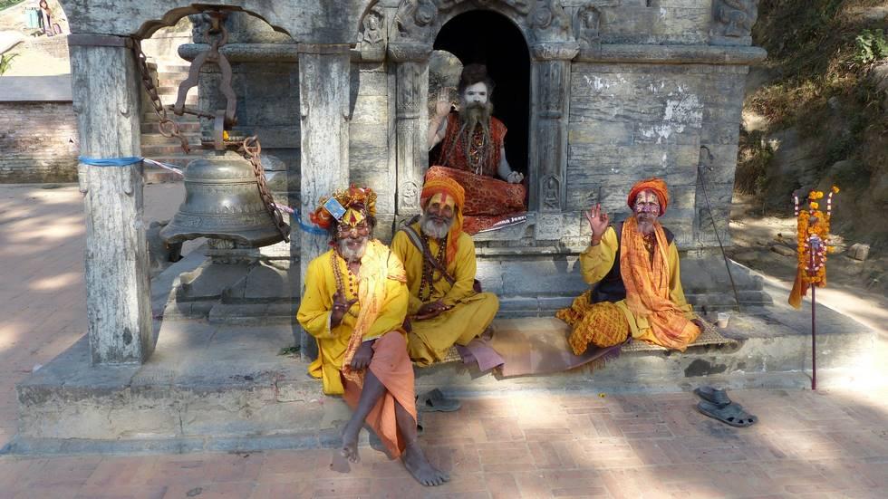 Sadhus à Katmandou au Népal