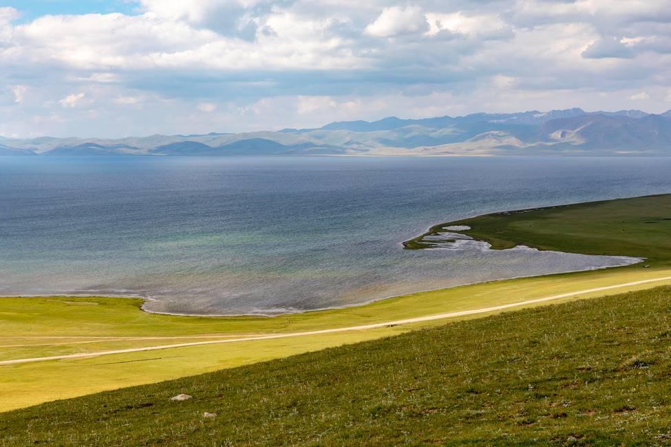 Le lac Son Kul au Kirghizistan
