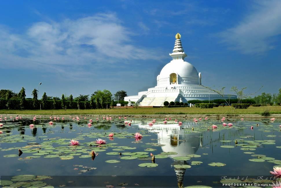 Monastère de la paix dans le monde à Lumbini au Népal
