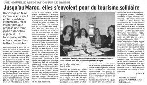 Article La Dépêche du Bassin du 12 2014