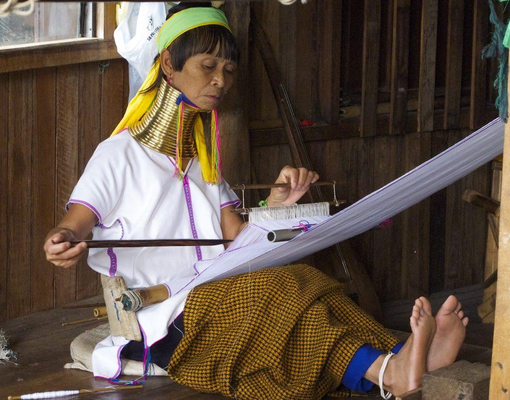 Tribu long neck en Birmanie