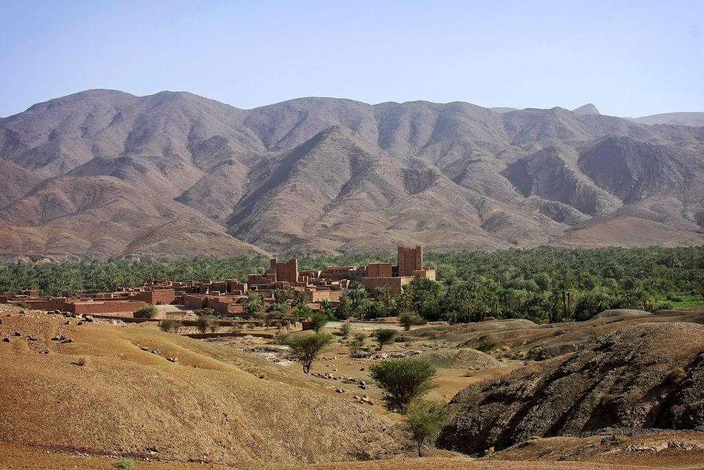 vallée du Drâa au sud du Maroc